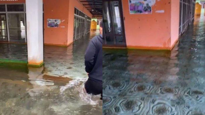Viral video yang memperlihatkan sebuah masjid terendam banjir dimana airnya bening di Kalimantan Selatan, berikut kata pengunggahnya.
