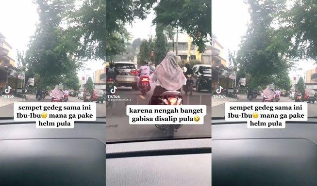 Viral Cewek Kesal Lihat Ulah Ibu-Ibu di Jalan, Syok saat Tahu Orangnya. (TikTok/@pocahontasss12)