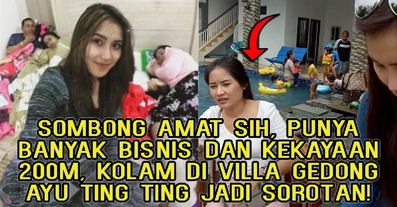 Hasil gambar untuk Sombong Amat Sih, Punya Banyak Bisnis dan Kekayaan Rp 200M, Kolan di Villa Gedong Ayu Ting Ting Jadi Sorotan!