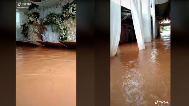 Viral Resepsi Pernikahan Batal karena Banjir (tiktok.com/@aditanonk)