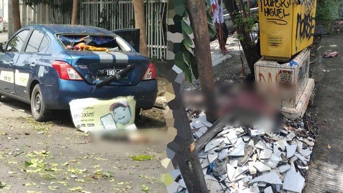 Video Detik-detik Diduga Bom Bunuh Diri di Depan Katedral Makassar, Ada Serpihan dan Bagian Tubuh - Tribun Manado
