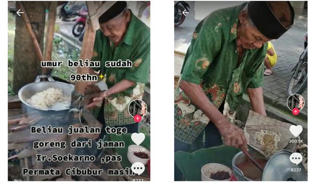 Kakek 90 Tahun Ini Masih Semangat Jualan Taoge Goreng dari Era Soekarno