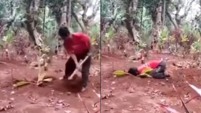Belum Bisa Ikhlas, Pria di Semarang Gali Kuburan Istri Sebelum Akhirnya Menangis (6)