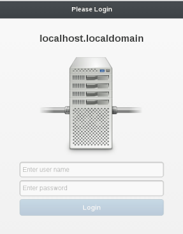 Main login view