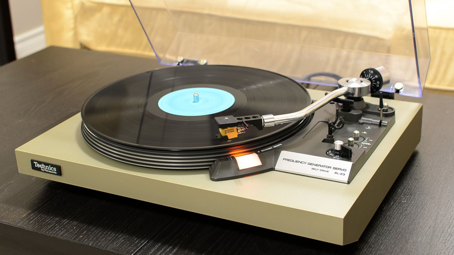 Technics SL-23 Belt-Drive Turntable Service & Review