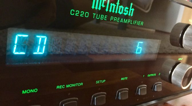 McIntosh C220 Preamplifier Repair