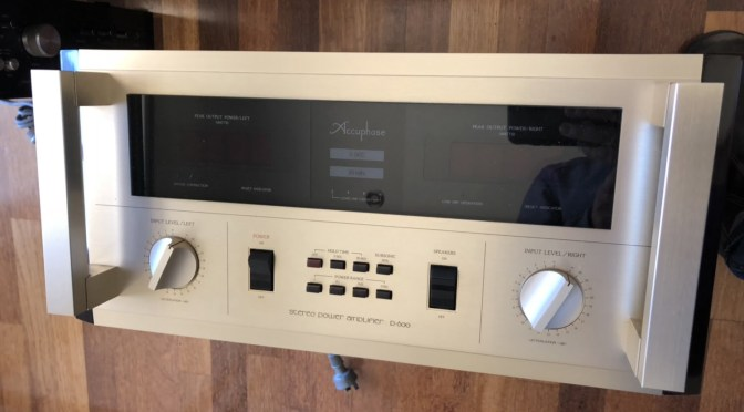 Accuphase P-600 Monster Stereo Power Amplifier Voltage Conversion