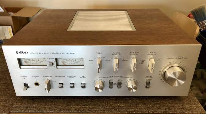 Beautiful Yamaha CA-2010 Integrated Amplifier Repair & Restoration