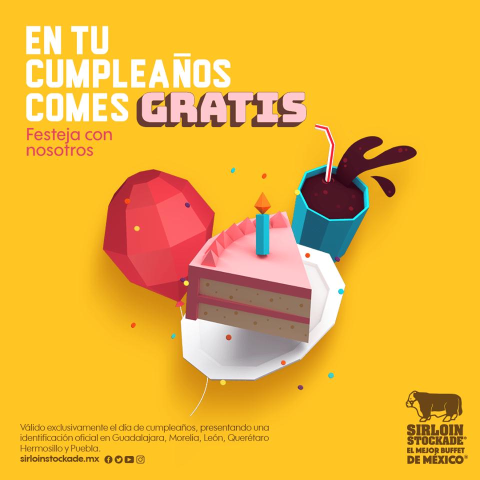 Sirloin Stockade -  En tu cumpleaños comes GRATIS usando cupón...