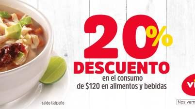 d86ac912e Vips – 20% de descuento en tu consumo total de alimentos y bebidas usando  cupón…