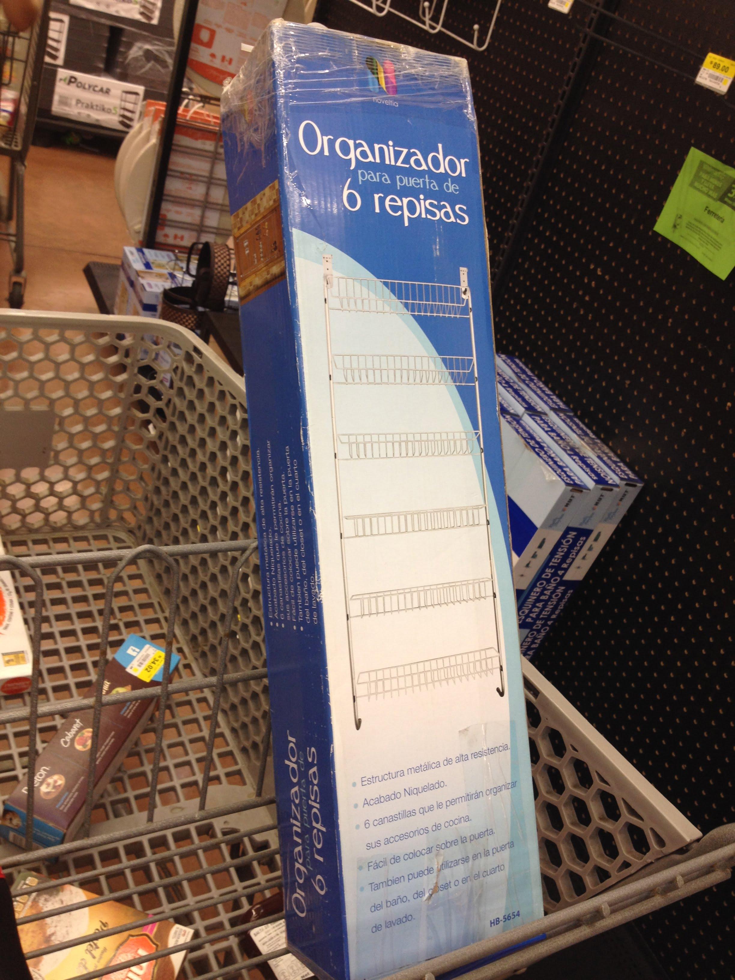 275.02 – Walmart – Organizador para puertas de 6 repisas con el 50% de  descuento… - LiquidaZona b7b6fbca42e0