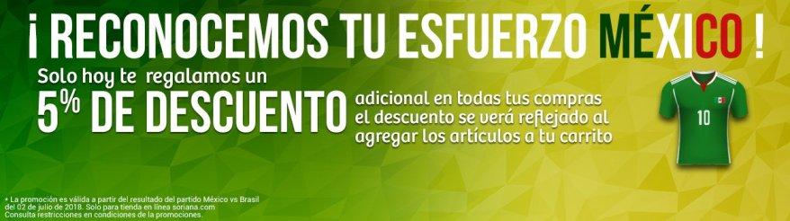 9c3f18c9c Soriana Online reconoce el esfuerzo de la Selección Mexicana durante el  Mundial Rusia 218 y tiene para ti la siguiente promoción el día de hoy