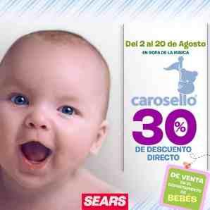 Sears tiene para ti del 2 al 20 de agosto un 30% de descuento en ropa para  bebé de la marca Carosello. b0a39f47f95d