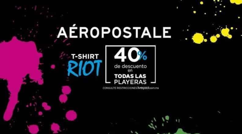 Liverpool Online - 40% de descuento en playeras Aeropostale línea Riot... -  LiquidaZona 04a7dfd683dc8
