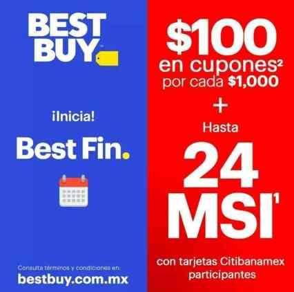 Best Buy continua con sus promociones y ahora tiene para ti este 14 y 15 de  noviembre  100 en cupones por cada  1,000 de compra + 24 MSI pagando con ... f2b772d8c7