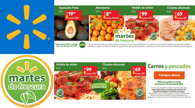 Walmart - Martes de Frescura 15 de enero de 2019 / Mandarina a $8.90kg, Aguacate Hass a $19.90kg y más...