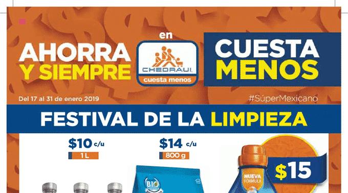 Chedraui - Folleto del 17 al 31 de enero de 2019 / Festival de la Limpieza...