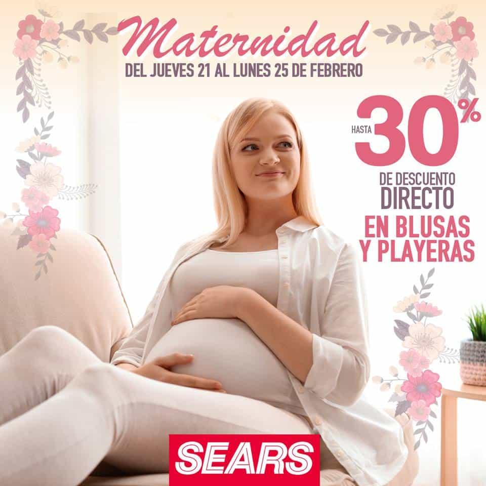 5e73920c7 Sears -Hasta 30% de descuento en blusas y playeras de maternidad del 21 al  25 de febrero... - LiquidaZona