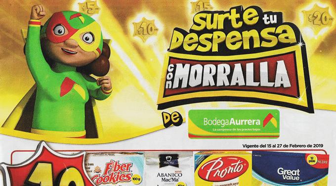 Bodega Aurrerá - Folleto del 15 al 27 de febrero de 2019 / Surte tu Despensa con Morralla...