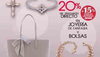 6b44872a0 Sears - Promoción Fashionistas   20% de descuento directo + 15% adicional  en joyería