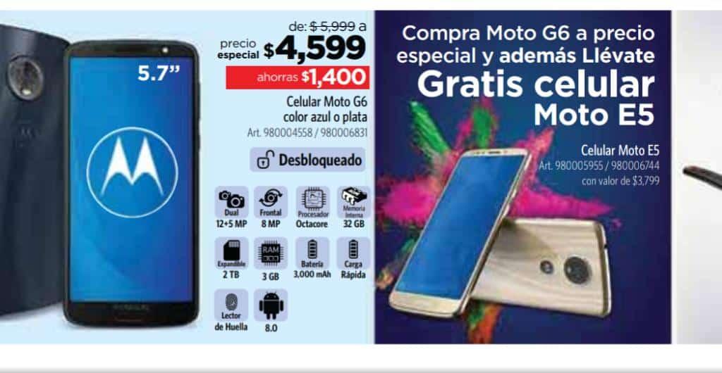 Sam's Club - Socio Fest 2019 /Gratis celular MOTO E5 en la compra de un MOTO G6...
