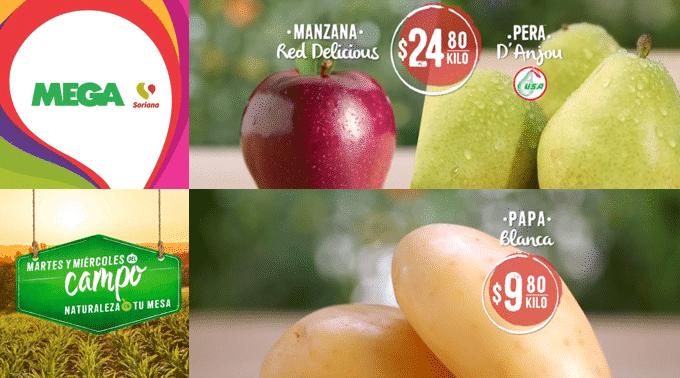 MEGA Soriana - Martes y Miércoles del Campo 19 y 20 de marzo de 2019 / Manzana Red Delicious y Pera d'Anjou a $24.80kg y más...