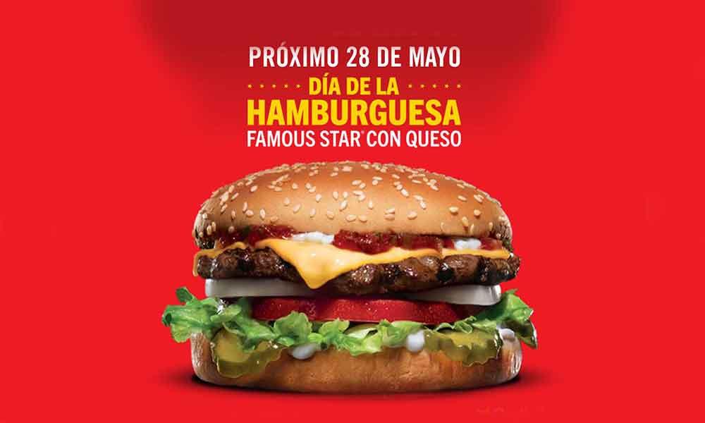 Carl's Jr. - Día de la Hamburguesa 2019 / Famous Star a $1.00 en la compra de cualquier combo el 28 de mayo...