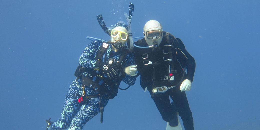 Some interesting scuba divers
