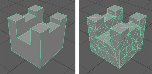 均一な三角形フェースに分割