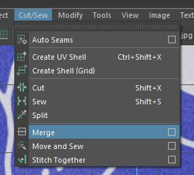 Cut/Sew > Merge □