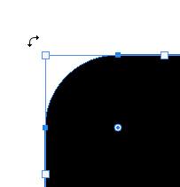 角にマウスを合わせると回転ハンドルが表示