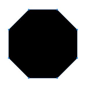 8角形のシェイプを描画生成