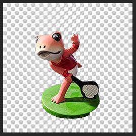 カエル人形以外を非表示