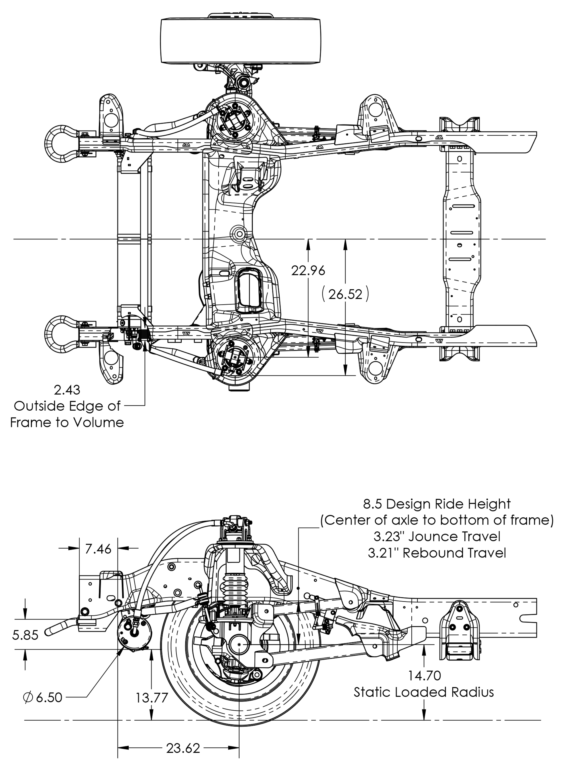 Ram Front Axle Suspension System For Ems
