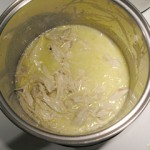 Pasta and Chicken with Lemon Sauce: Mixing the Sauce