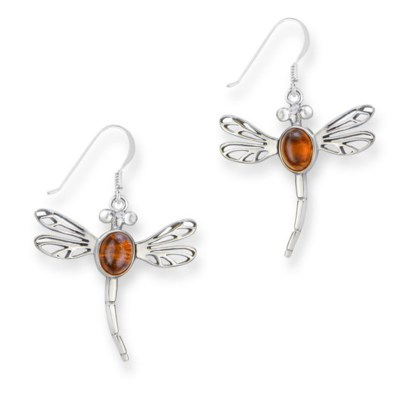 celtic-dragonfly-silver-earrings-with-amber-stone