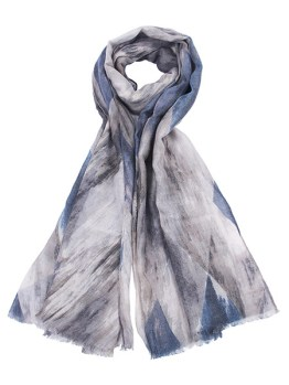 Grey abstract scarf