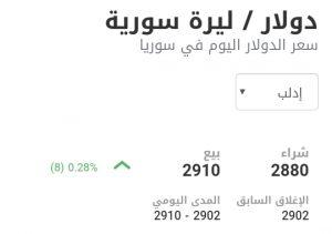سعر الدولار في مدينة إدلب عند إغلاق يوم الأحد 17 كانون الثاني