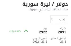 سعر الدولار في مدينة إدلب عند إغلاق يوم الاثنين 18 كانون الثاني