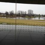 長岡リリックホールのロビーは、なかなかのノマド空間