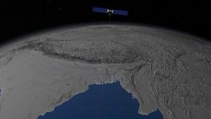A satellite taking elevation measurements over Bangladesh. NASA