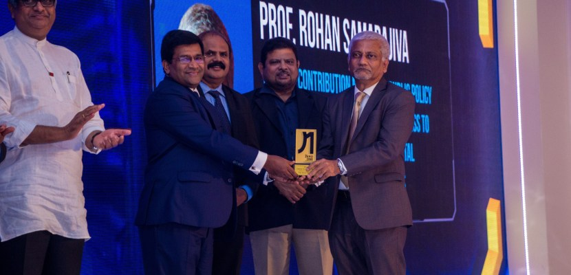 Founding Chair felicitated for contribution to telecom policy in Sri Lanka