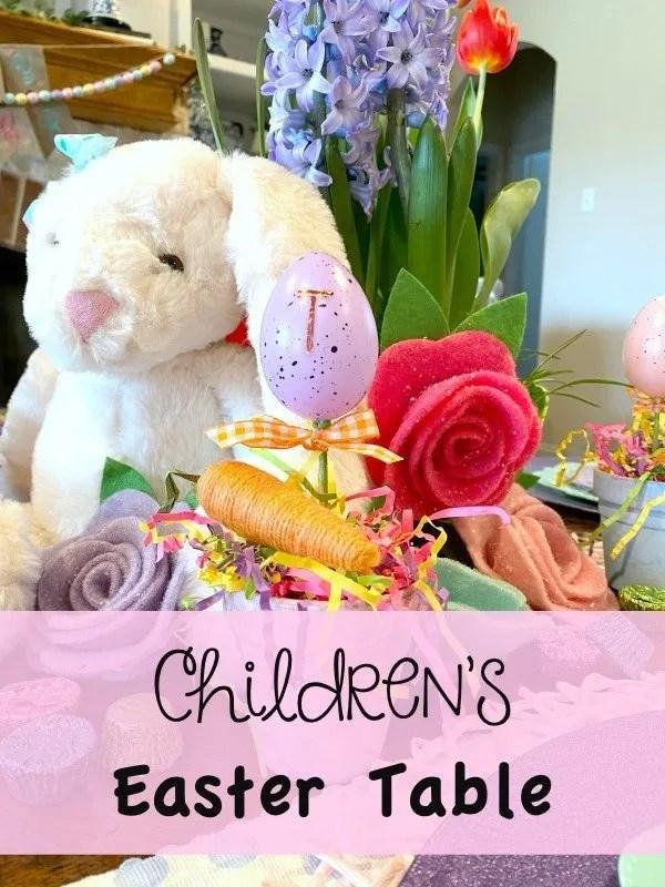 Children's Easter Table
