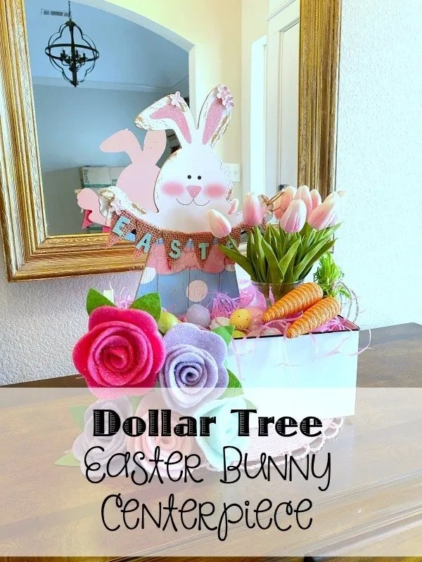 Dollar Tree Easter Bunny Centerpiece