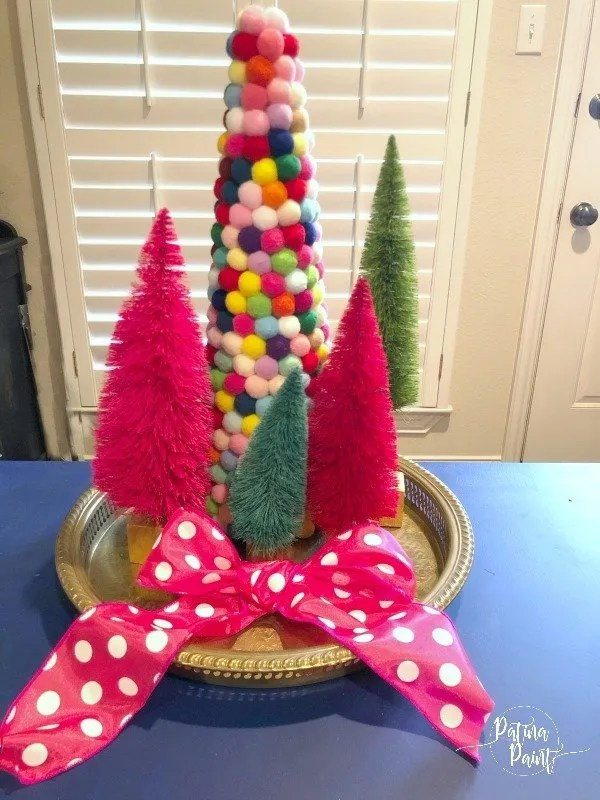 pom pom and bottle brush trees