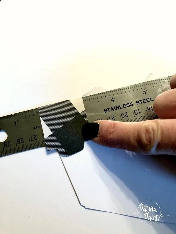 creasing card stock boxes using a ruler