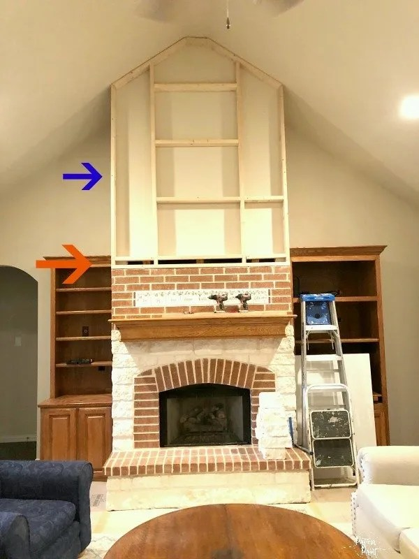 framing in a fireplace wall