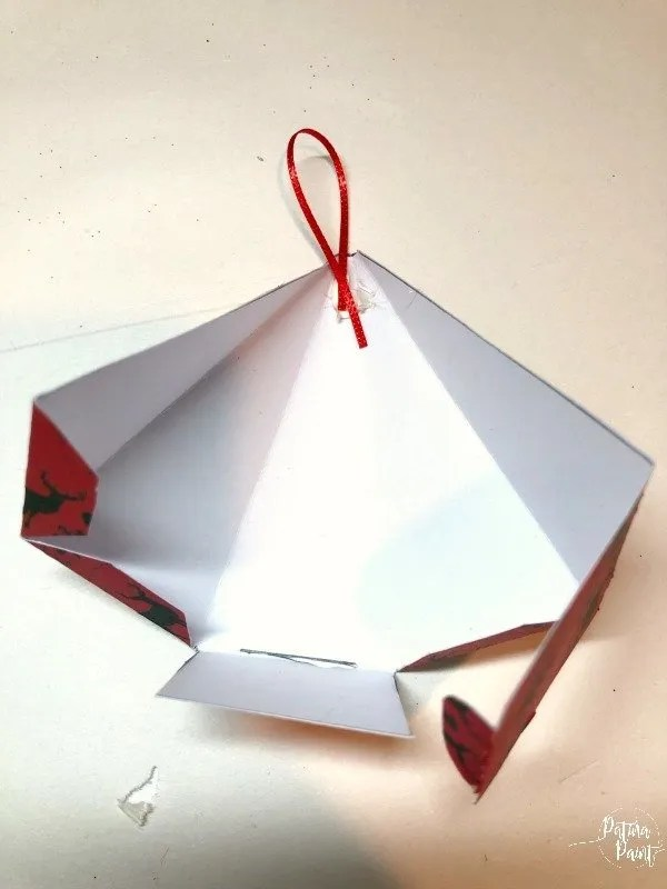 glueing ribbon to a box