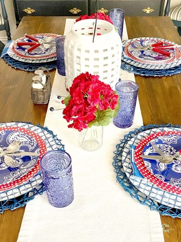 memorial day table scape