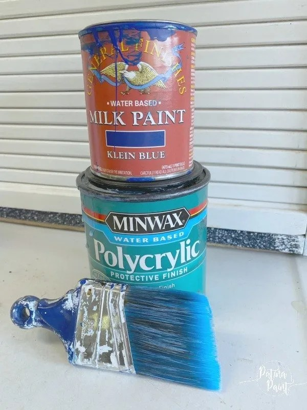paint, poly and paint brush
